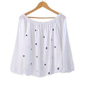 Cloth & Stone Star Print Off Shoulder Top   S